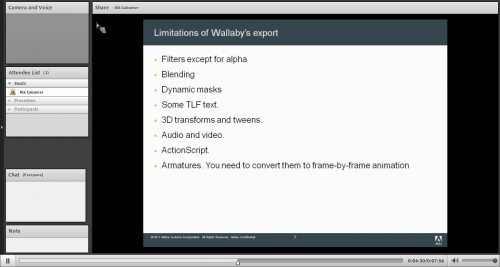 Limitations of Wallaby' export